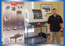 Techno CNC is shown with the BT1212 CNC Router on location at the WPI Campus.