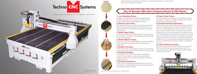 View the Techno CNC Product Catalog. Our CNC routers and CNC plasma cutters are perfect for classrooms, easy to learn and operate, and are used in industry manufacturing.